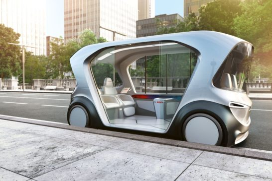 Bosch's new concept shuttle at CES 2019 in Las Vegas